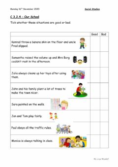 Interactive worksheet Our School