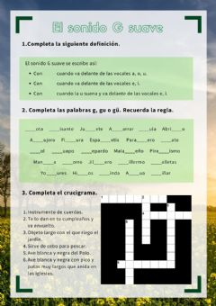 Interactive worksheet Sonido G suave