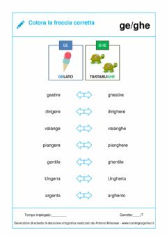 Interactive worksheet Decisione ortografica Gh-GI