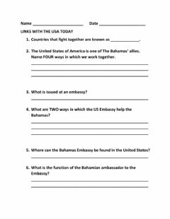 Interactive worksheet Links with the USA Today