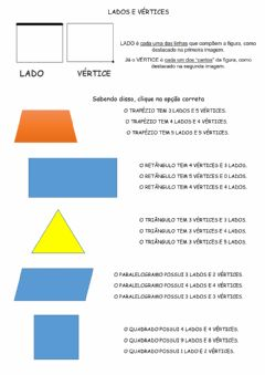 Interactive worksheet Vértices e lados