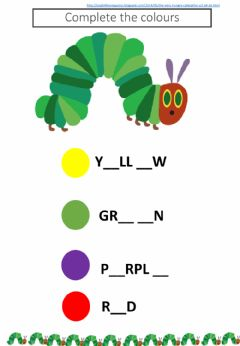 Interactive worksheet Complete the colours