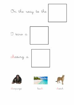 Interactive worksheet On the way to the beach