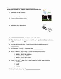 Interactive worksheet Newton's Law of Motions Practice