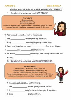 Interactive worksheet PAST SIMPLE vs PRESENT PERFECT