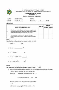 Interactive worksheet LKM Pengenalan Debit