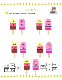 Interactive worksheet La resta
