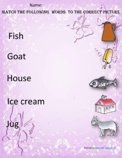 Ficha interactiva Match the following words to the correct picture