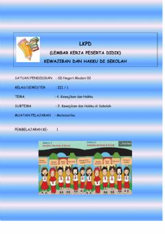 Interactive worksheet LKPD kelas 3