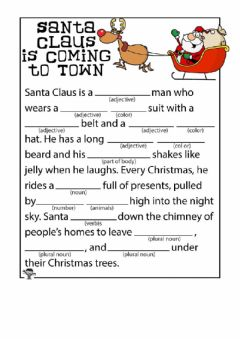 Interactive worksheet Santa Comes to Town