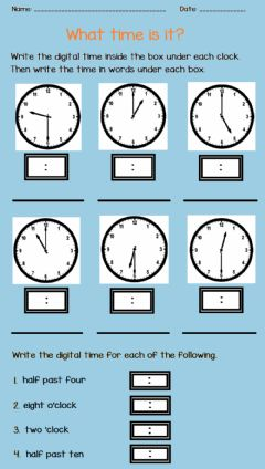 Interactive worksheet Telling Time 3