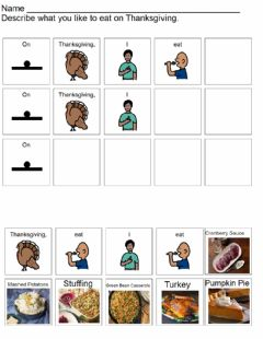 Interactive worksheet On Thanksgiving