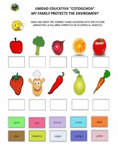 Interactive worksheet Food