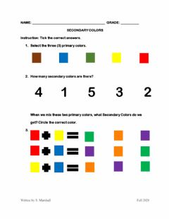 Interactive worksheet Secondary Colors