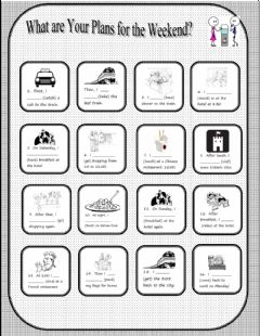 Interactive worksheet Vacation Plans - Present Continuous for Future Plans