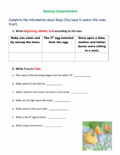 Interactive worksheet Ruby in Her Own Time