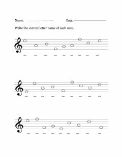 Ficha interactiva CPS Grades 4-6 Treble Clef Line and Space Notes