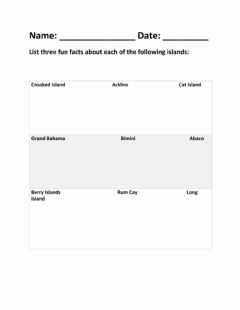 Interactive worksheet Hundreds of Islands