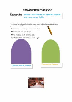 Interactive worksheet Pronombres posesivos