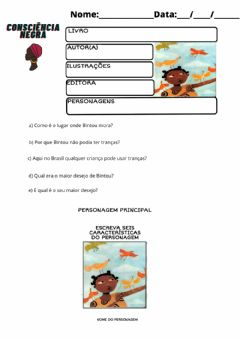 Interactive worksheet As tranças de Bintou