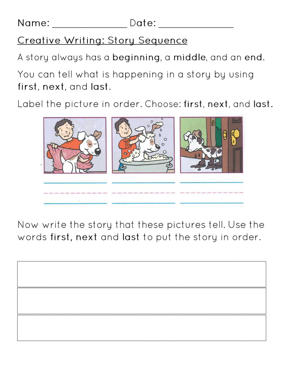 Story Sequence Worksheet Worksheet