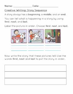 Interactive worksheet Story Sequence Worksheet