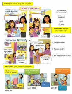 Interactive worksheet Story How much