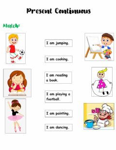 Interactive worksheet Presente continuous