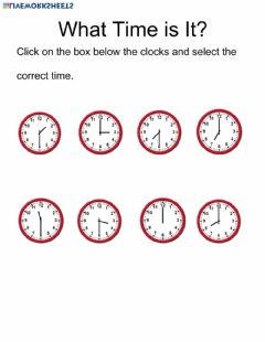 Ficha interactiva Choose the correct time