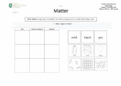 Interactive worksheet Matter, class 2 (state of matter)