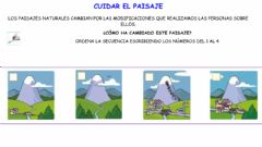 Interactive worksheet Cuidar el paisaje