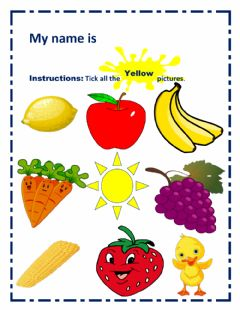 Interactive worksheet Yellow