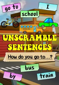 Interactive worksheet How do you go to...? (Unscramble sentences)