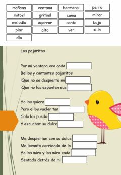 Interactive worksheet Poemas.