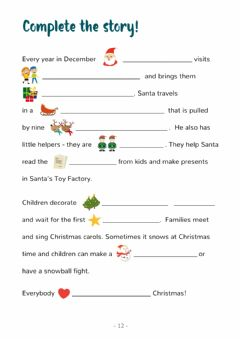 Interactive worksheet Xmas 9