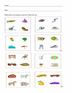 Interactive worksheet Odd One Out