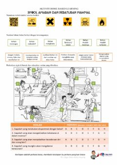 Interactive worksheet Simbol Amaran