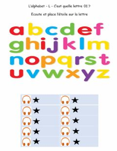 Interactive worksheet Alphabet - L - Quelle lettre 01