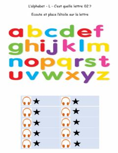 Interactive worksheet Alphabet - L - Quelle lettre 02