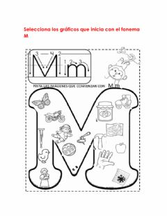 Interactive worksheet Conciencia Fonológica Fonema M-m