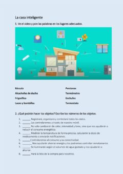 Interactive worksheet La casa inteligente