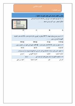 Interactive worksheet قانون اوم
