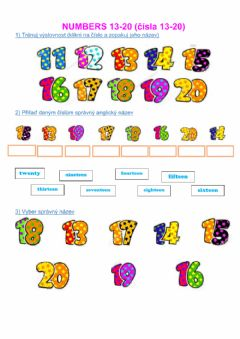 Interactive worksheet ChitChat1-numbers 13-20