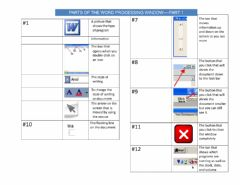 Ficha interactiva Parts of the Word Processing Window Part 2