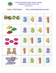 Ficha interactiva Count and tick the correct number