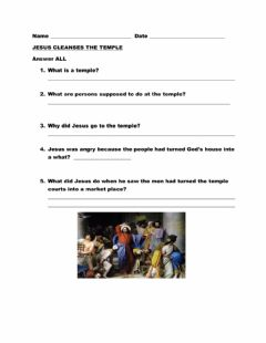 Interactive worksheet Jesus Cleanses the Temple