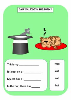 Interactive worksheet Playing with rhymes