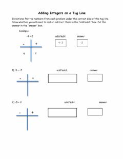 Interactive worksheet Adding Integers