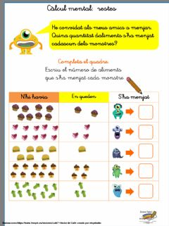 Interactive worksheet Berenar de monstres