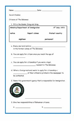 Interactive worksheet Citizens of The Bahamas (corrected)
